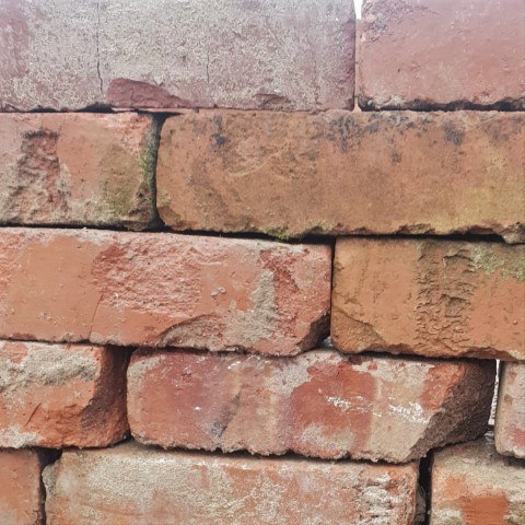 2 5-8 Light Red Wire Cut Brick Reclaimed