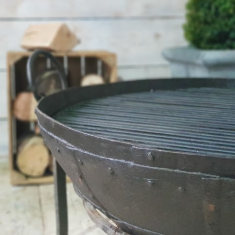 Antique Firebowl Detail