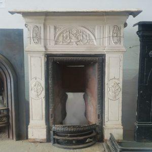 Cast Iron White Fireplace