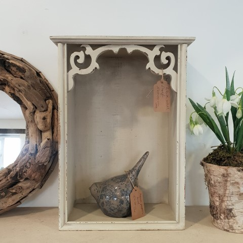 Decorative Corner Vintage Style Cream Wall Shelf