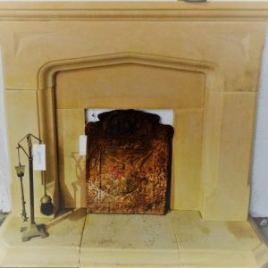 LImestone Fireplace Reconstituted