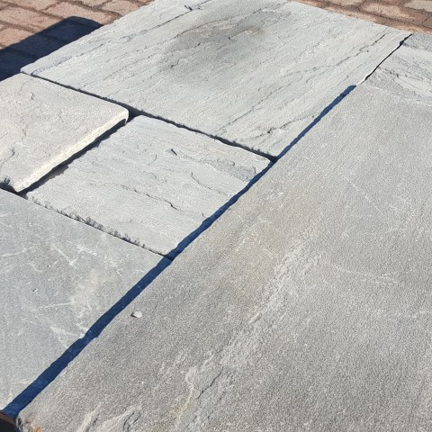 Heritage Grey Black Sandstone Paving Close Up