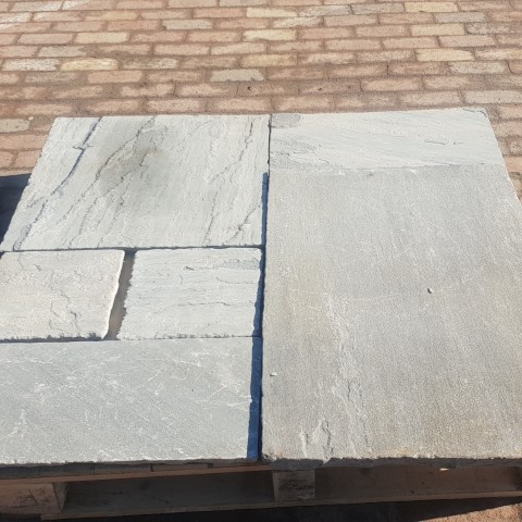 Heritage Grey Black Sandstone Paving
