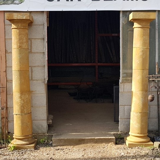 Ironstone Columns with Top and base