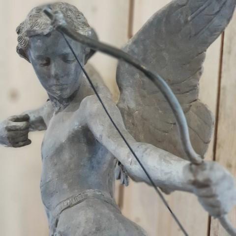 Lead Archer Statue Close Up