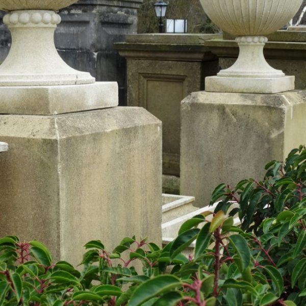 Pair of forticrete Plinths