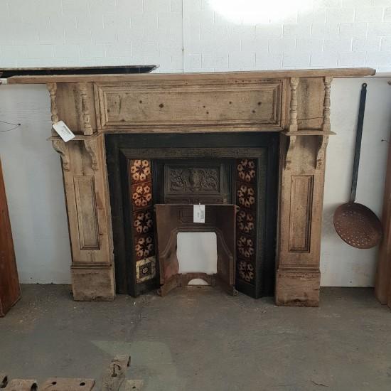 Pine Surround Fireplace