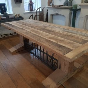Reclaimed Wood Rustic Large Dining Table