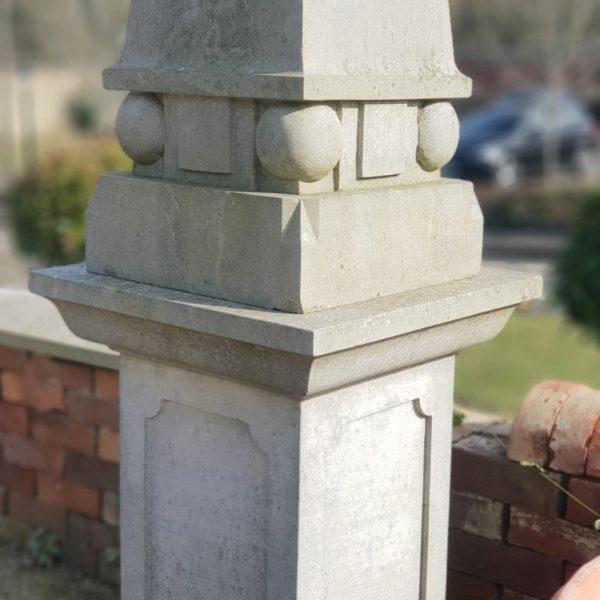 Sandstone Obelisk Close Up