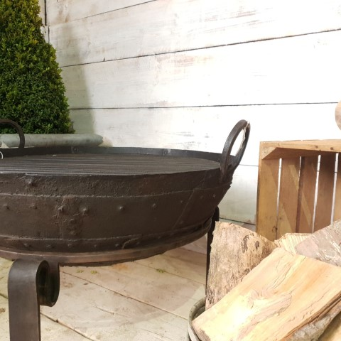 Small Antique Fire bowl Detail