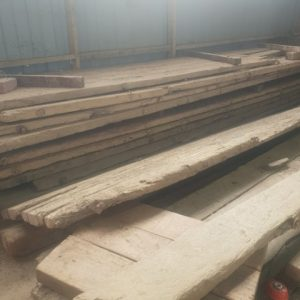 Stocks of Reclaimed Wood for Tables
