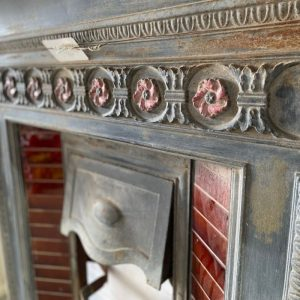 Tiled Cast Iron Fireplace with Mantel