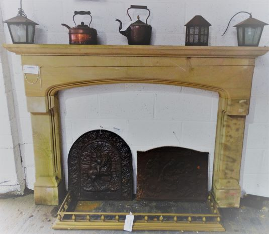 Carved Yorkshire Stone Fireplace Surround