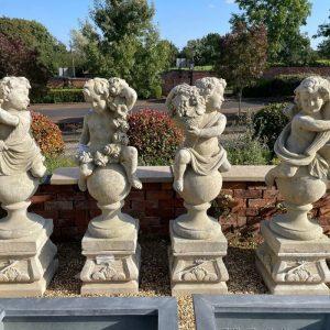 105cm Four Seasons Putti Statues - Set of Four