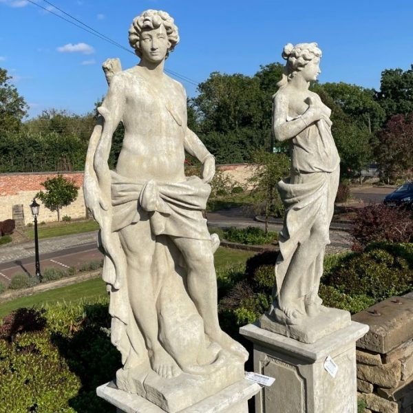 Diana and Apollo - Pair of Statues