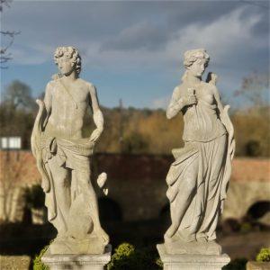 Diana and Apollo Statues