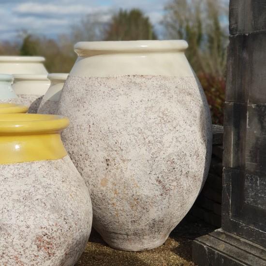 Extra large Ivory olive jar
