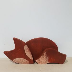 Handmade wooden quirky fox decoration