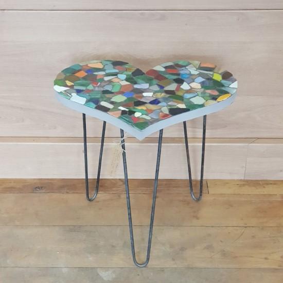 Heart Mosaic Table