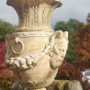 Italian Reconstituted Marble Urn