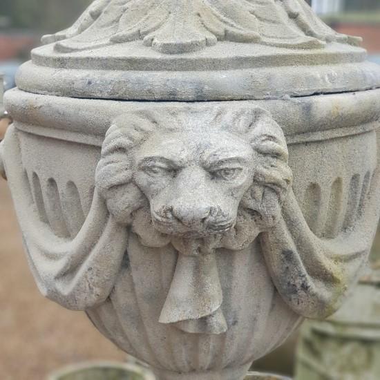 Lion Head Urn