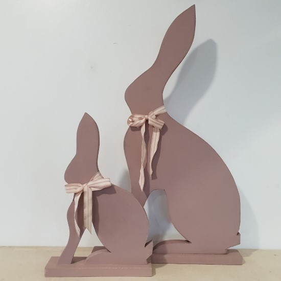 Pink Wooden Hares