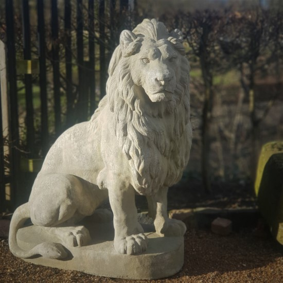 Reconstituted Stone Lion Large