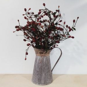 Zinc Jug of berries