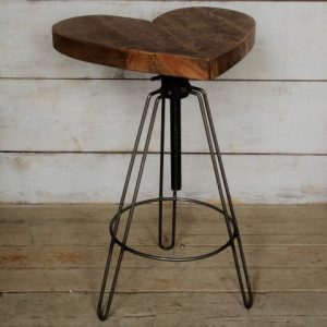 heart shaped bar stool
