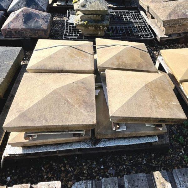 Cast Stone Stepped Pier Caps