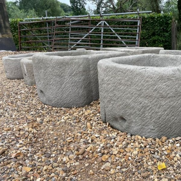 Concrete bow fronted trough