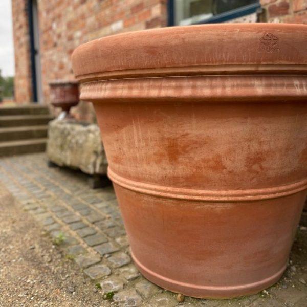 Handmade Italian Double Rim Clay Tree Pot XXL
