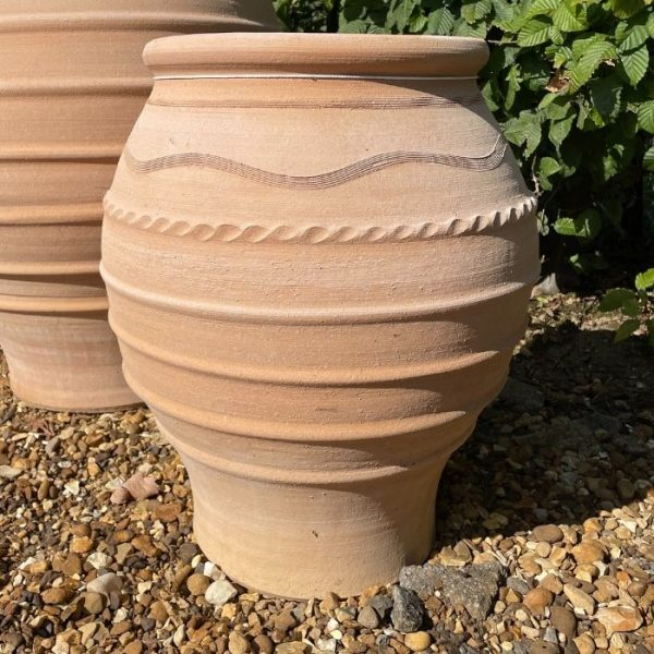 Large Handmade Cretan Clay Olive Jar