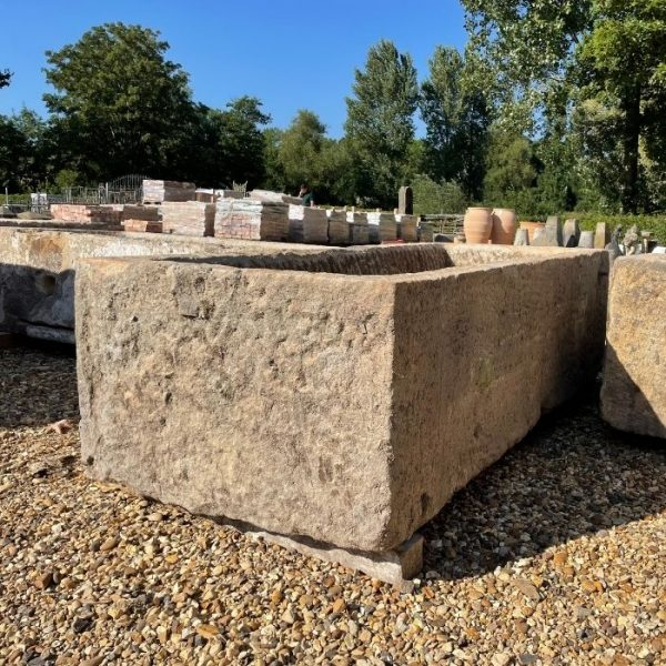 Reclaimed Hand Carved Sandstone Gritstone Trough