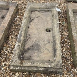 Reclaimed Yorkstone Sink with Drain 6H x 46W x 21D
