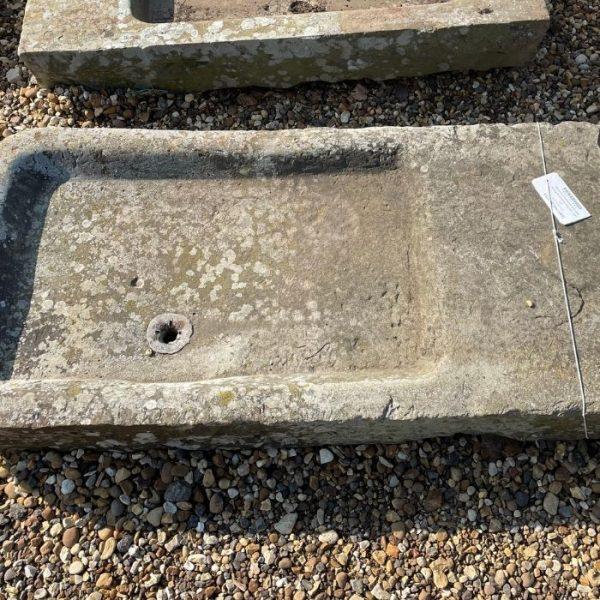 Reclaimed Yorkstone Sink with Salting Shelf 48 x 23 x 6