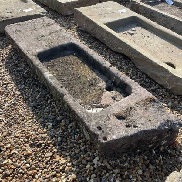 Reclaimed Yorkstone Sink with Salting Table
