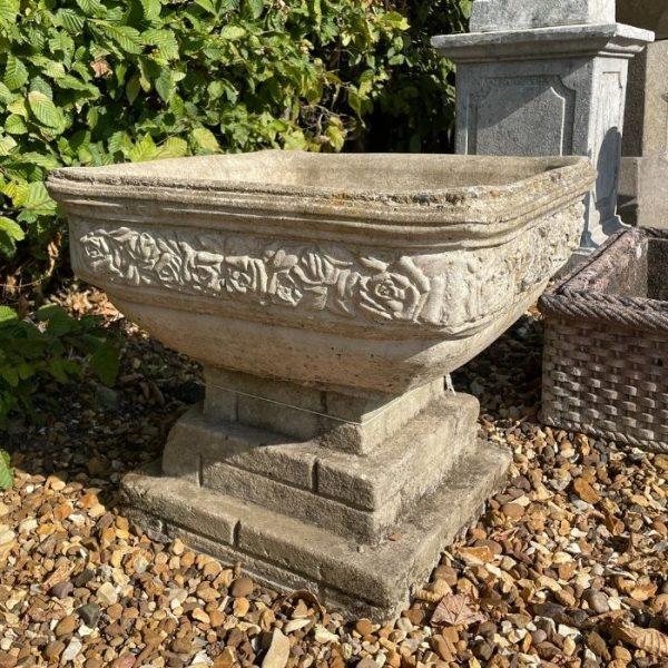 Square Composition Stone Planter