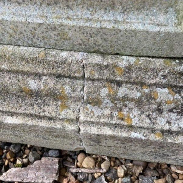 Fluted Urn on Square Plinth Base