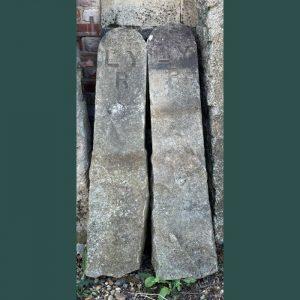Pair Stone Railway Posts