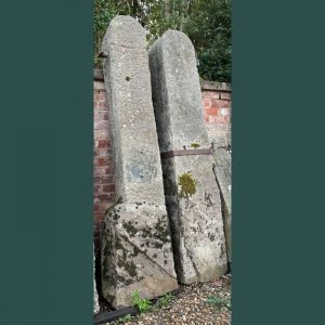Pair of Large Stone Posts