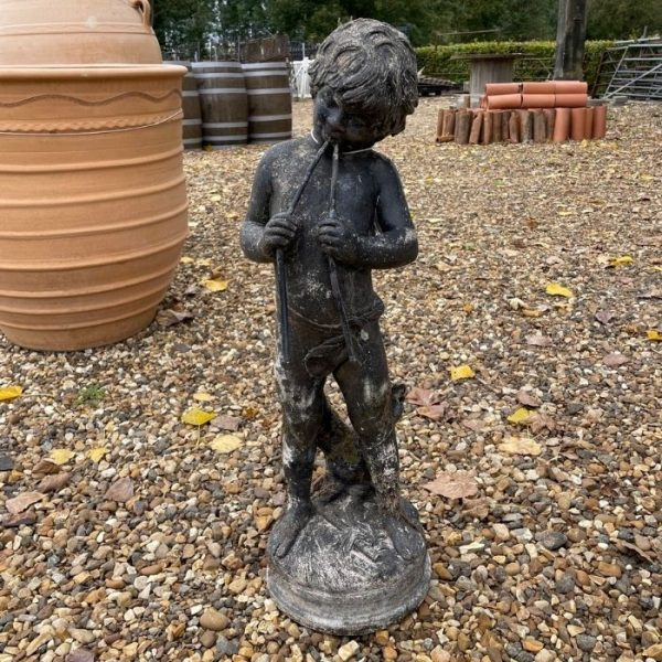 Reclaimed Reconstituted Stone Statue of Boy